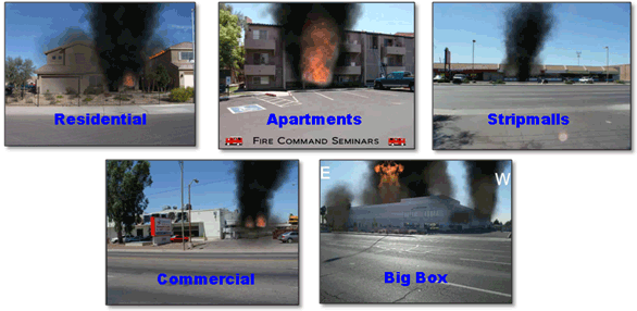 5 distinct building types for size up and incident action planning