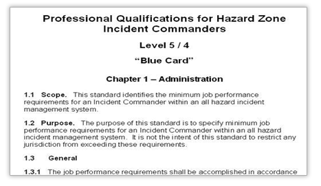Hazard Zone Incident Command Standard